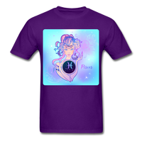 Pisces Lady on Blue - Unisex - purple