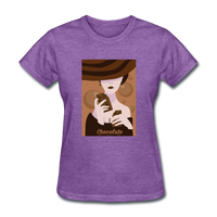 A Chocolate Eating Classy Lady - Women's - purple heather