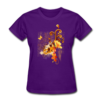 Swirls with Butterfly - Women's - purple