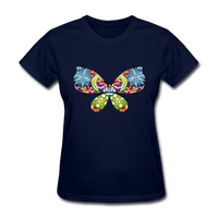 Patterned Butterfly - Women's - navy