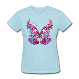 Abstract Pink Butterfly - Women's - powder blue