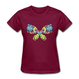 Patterned Butterfly - Women's - burgundy