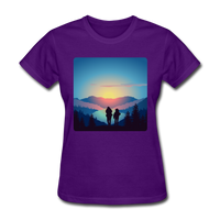 Backpackers at Sunset - Women's - purple