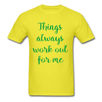 Things Always Work Out For Me - Men's Tee - yellow