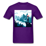 Lady in Pink Hiking - Unisex - purple