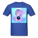 Pisces Lady on Blue - Unisex - royal blue