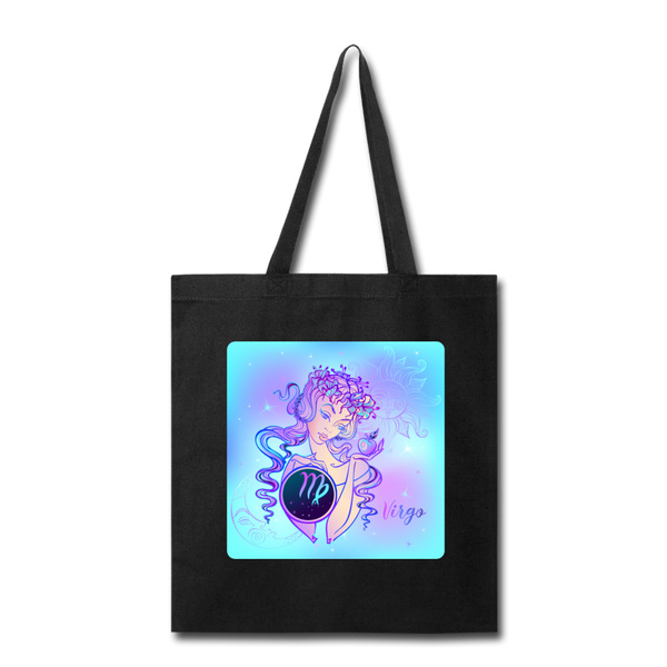 Virgo Lady on Blue - Tote - black