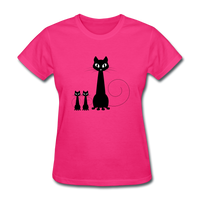 Black Cat Family - Women's - fuchsia