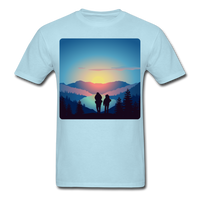 Backpackers at Sunset - Unisex - powder blue