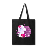 Beautiful Lady Poodle - Tote - black