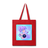 Taurus Lady on Blue - Tote - red