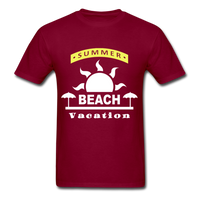 Summer Beach Vacation - Men's Tee - burgundy