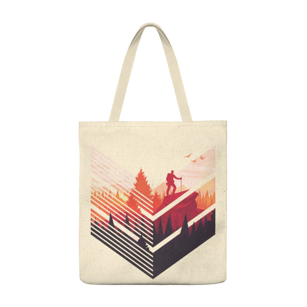 Geometric Hiking Pose - Tote