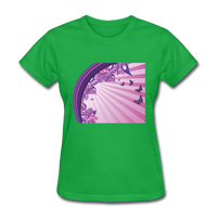 Sun Rays and Butterflies - Women's - bright green