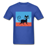Black Cat on a Roof - Mens - royal blue