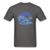 Palm Trees with Sky - Men's Tee - charcoal