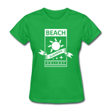 Beach Summer Holiday Design #2 - Women's Tee - bright green