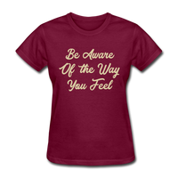 Be Aware - Women's - burgundy