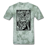 Robot Attack - Men's Tee - military green tie dye