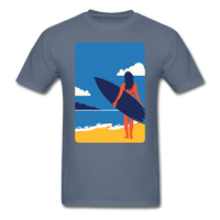 Lady with Surf Board - Unisex - denim