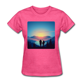 Backpackers at Sunset - Women's - heather pink