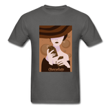 A Chocolate Eating Classy Lady - Men's - charcoal
