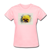 Yellow Pansy Watercolor - Women's - pink