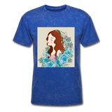 Beautiful Woman with Flowers - Men's - mineral royal