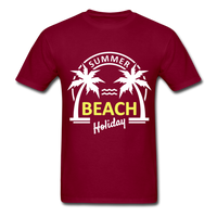Summer Beach Holiday Design #3 - Men's Tee - burgundy