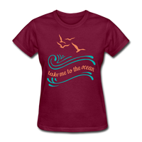 Take Me to the Ocean - 3 - Women's - burgundy