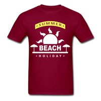 Summer Beach Holiday Design #4 - Men's Tee - burgundy