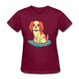 Happy Puppy - Women's - burgundy