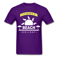 Summer Beach Holiday Design #4 - Men's Tee - purple