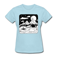 Peaceful Campsite - Women's - powder blue