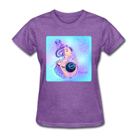 Cancer Lady on Blue - Women's - purple heather
