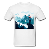 Lady in Pink Hiking - Unisex - white