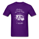 Home the Place Where I belong - Men's - purple