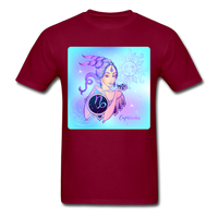 Capricorn Lady on Blue - Unisex - burgundy