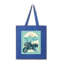 Motorcycle in the Mountains - Tote - royal blue