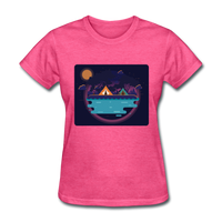 Camping on the Lake - Women's - heather pink
