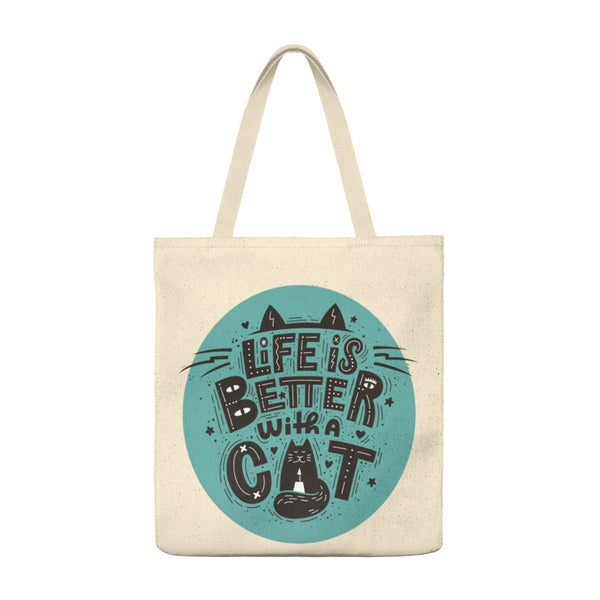 Life is Better Cat - Tote