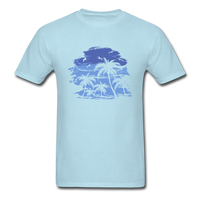 Palm Trees with Sky - Men's Tee - powder blue