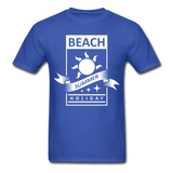 Beach Summer Holiday Design #2 - Men's Tee - royal blue