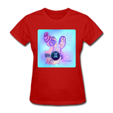 Gemini Lady on Blue - Women's - red