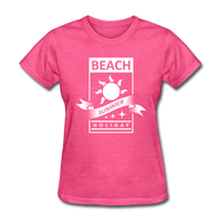 Beach Summer Holiday Design #2 - Women's Tee - heather pink