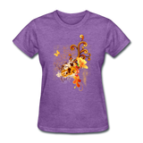 Swirls with Butterfly - Women's - purple heather