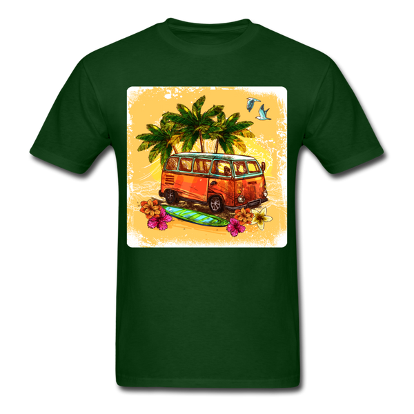 VW Bus Surfing - Unisex - forest green