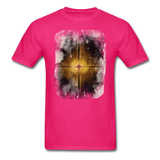 Brown and White Fractal - Unisex - fuchsia