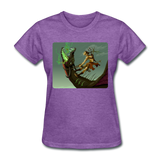 Elf on a Dragon - Women's - purple heather