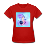 Capricorn Lady on Blue - Women's - red